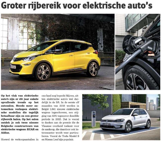 verkoop elektrische auto 2017